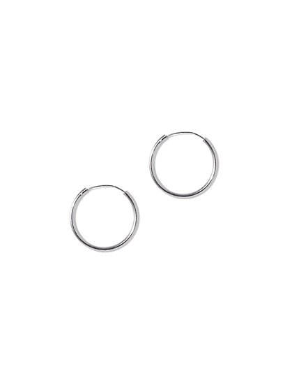 Medium Sterling Silver Hoop Earring - New York & Company