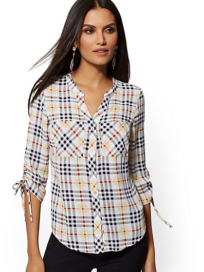 a949215373 Meghan Shirt - Multicolor Plaid - New York   Company ...