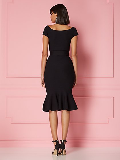b9a60c38a324 ... Melinda Flounced Sweater Dress - Eva Mendes Collection - New York    Company ...