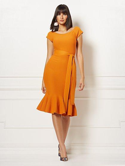 d7a9c698fbf7 Melinda Flounced Sweater Dress - Eva Mendes Collection - New York & Company  ...