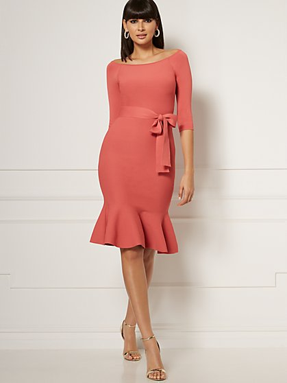 Melinda Off-The-Shoulder Sweater Dress - Eva Mendes Collection - New York & Company