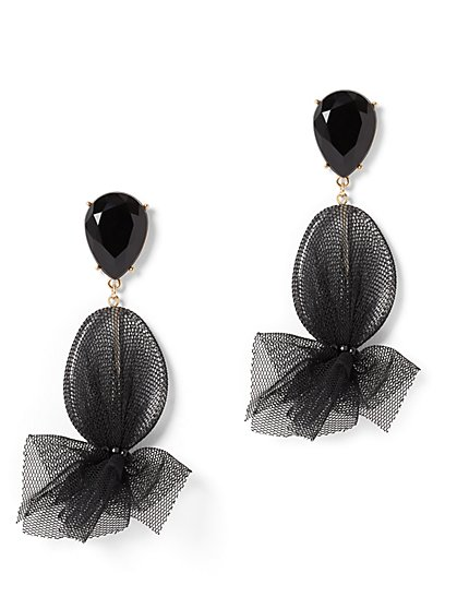Mesh Linear Drop Earring - New York & Company