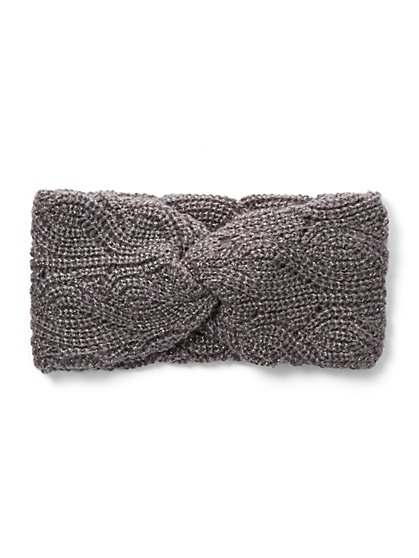 Metallic Cable-Knit Head Wrap - New York & Company