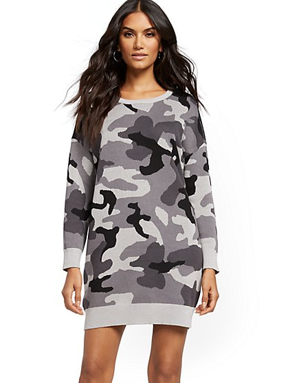 Metallic Camo Sweater Dress - Soho Street - New York & Company