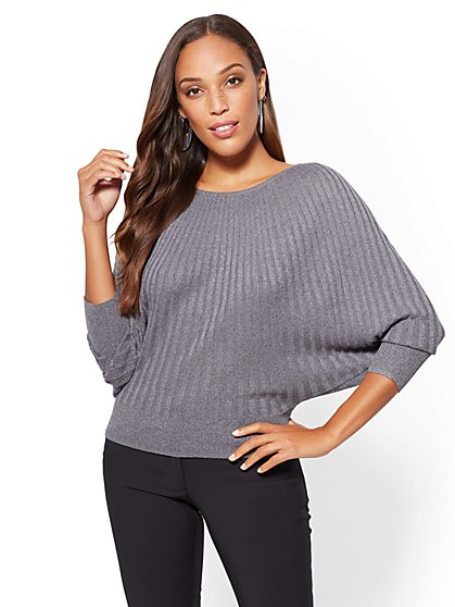 Metallic Dolman Sweater - 7th Avenue - New York & Company