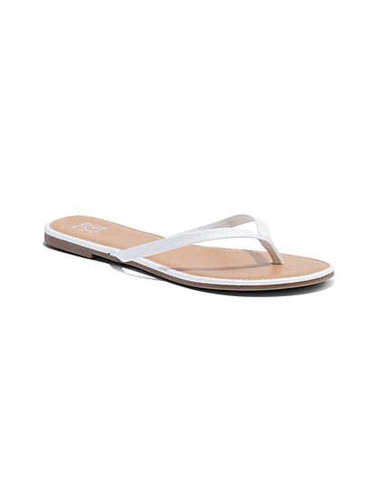 Metallic Flip-Flop Sandal - New York & Company