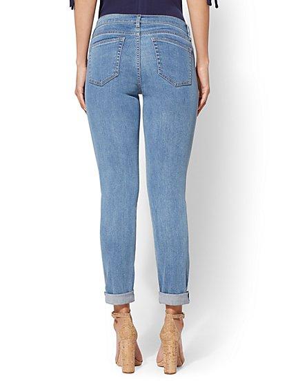57dac015b7a9 ... Metallic Foil Curvy Boyfriend Jeans - Soho Jeans - New York   Company