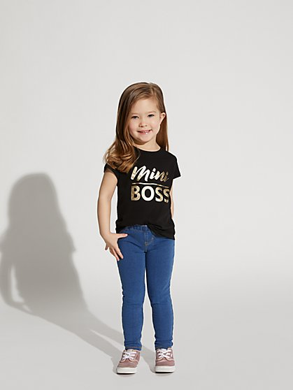 "Metallic-Foil ""Mini Boss"" Graphic Tee - New York & Company"