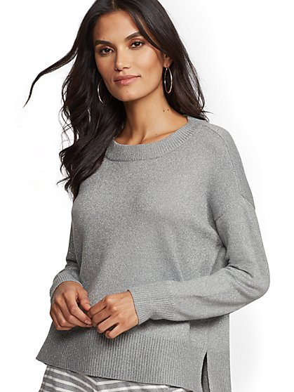 Metallic Hi-Lo Sweater - New York & Company