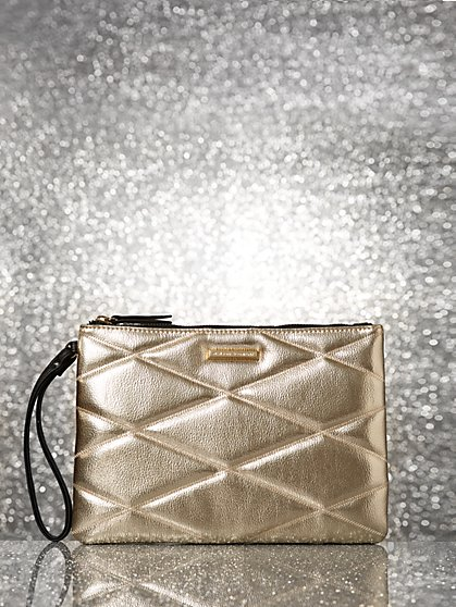 Metallic Quilted Pochette - New York & Company
