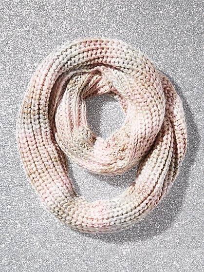 Metallic Rainbow Knit Infinity Scarf - New York & Company