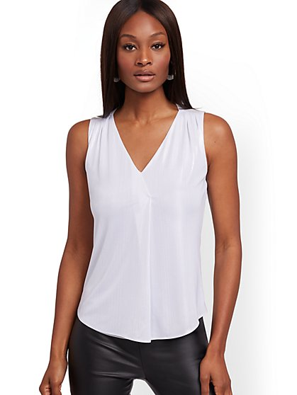 Metallic Sleeveless Top - New York & Company