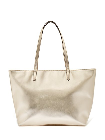 Metallic Tote Bag - New York & Company