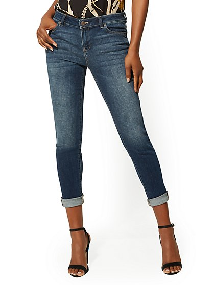 Mid-Rise Boyfriend Jeans - Ultimate Blue - New York & Company