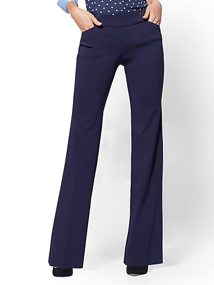 Mid Rise - Button-Accent Bootcut Pant - 7th Avenue - New York & Company