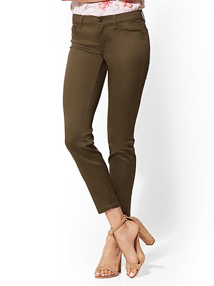 Mid-Rise Crosby Slim-Leg Ankle Pant - New York & Company