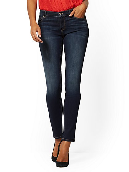 Mid-Rise Skinny Jeans - Blue Tease - New York & Company