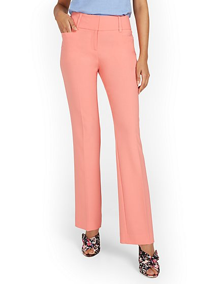 Mid-Rise Straight-Leg Pant - Double Stretch - New York & Company