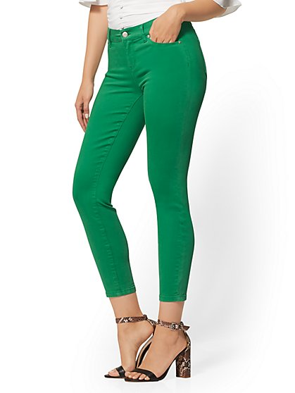 Mid-Rise Super-Skinny Ankle Jeans - New York & Company