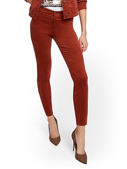 Mid-Rise Super-Skinny Jeans - Corduroy - New York & Company