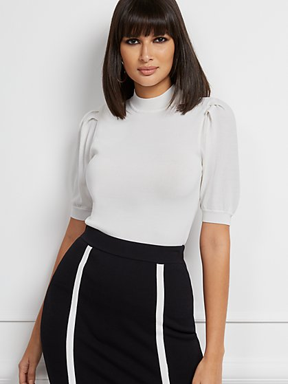 Millie Short-Sleeve Sweater - Eva Mendes Collection - New York & Company