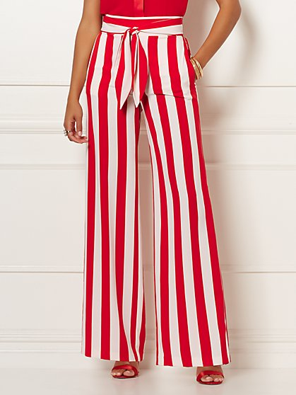 Mindi Stripe Palazzo Pant - Eva Mendes Collection - New York & Company