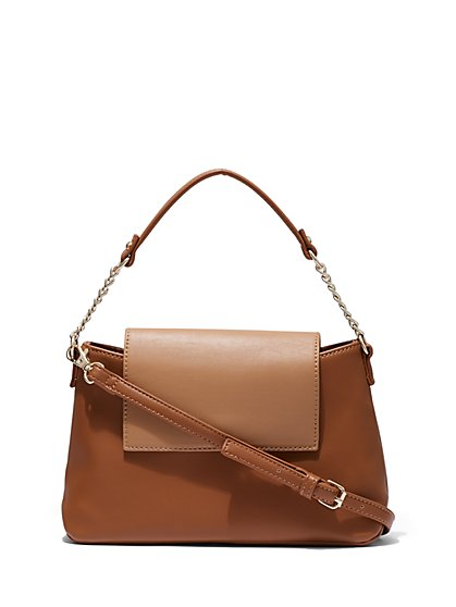 Mini Flap Satchel Handbag - New York & Company