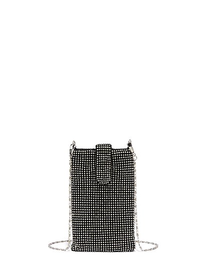 Mini Rhinestone Crossbody Bag - New York & Company