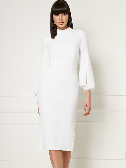 Misty Ivory Sheath Dress - Eva Mendes Collection - New York & Company