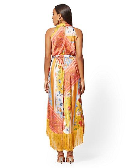 996c7b9acc32 ... Mixed-Print Fringed Wrap Maxi Dress - New York & Company