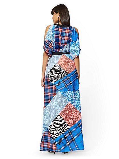 e2e8e96c9786 ... Mixed-Print Kimono Maxi Dress - New York   Company