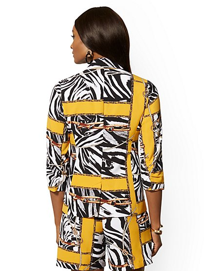 0775a988f7 ... Mixed-Print Madie Soft Blazer - 7th Avenue - New York   Company