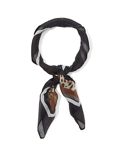 Mixed-Print Scarf - Eva Mendes Collection - New York & Company
