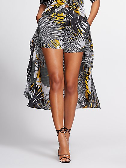 Mixed-Print Short - Gabrielle Union Collection - New York & Company
