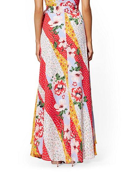 fd3de297a ... Mixed-Print Wrap Maxi Skirt - New York & Company ...