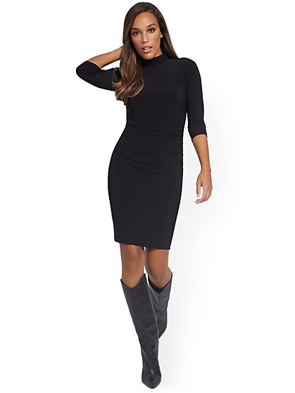 Mock-Neck Dress - NY&C Style System - New York & Company