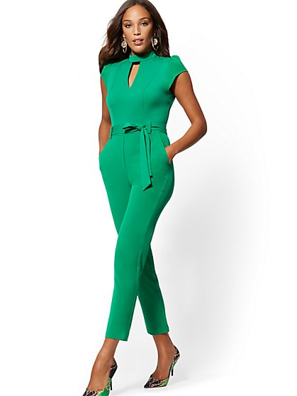 Mock-Neck Madie Jumpsuit - 7th Avenue - New York & Company