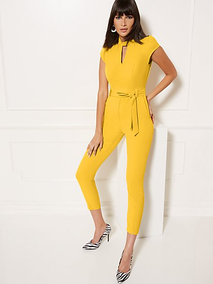 24a42c4a5 Mock-Neck Madie Jumpsuit - 7th Avenue - New York & Company ...