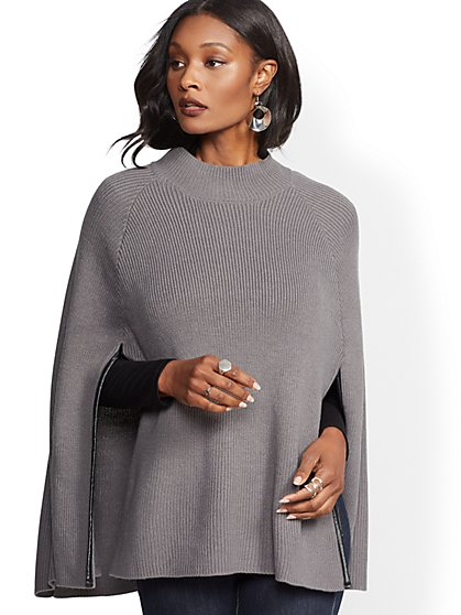 Mock-Neck Poncho - New York & Company