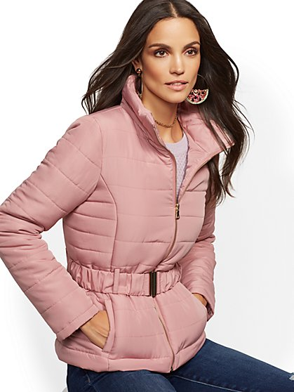 Mock-Neck Puffer Jacket - New York & Company