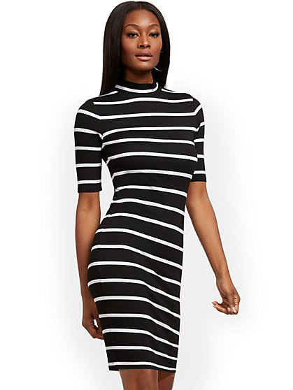 Mock-Neck Shift Dress - New York & Company
