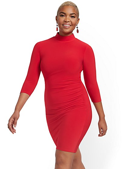 Mockneck Dress - NY&C Style System - New York & Company