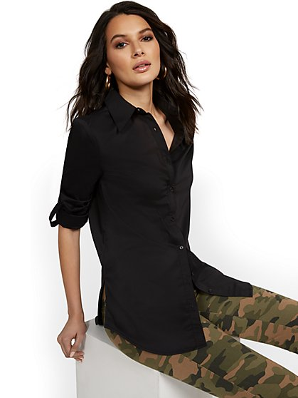 Modern Madison Tunic Shirt - 7th Avenue - New York & Company
