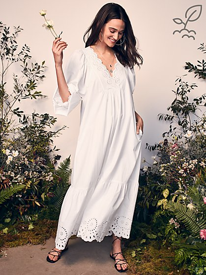 Moondance Maxi Dress in Responsibly-Sourced Cotton - New York & Company