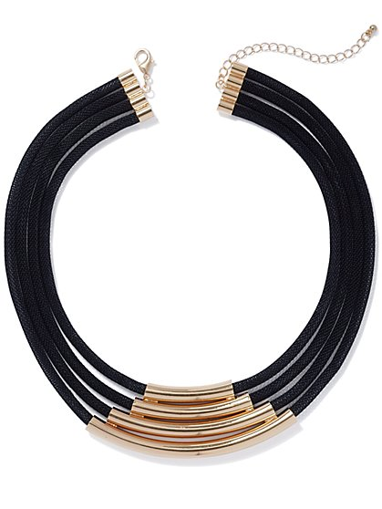 Multi-Row Goldtone-Accent Collar Necklace - New York & Company