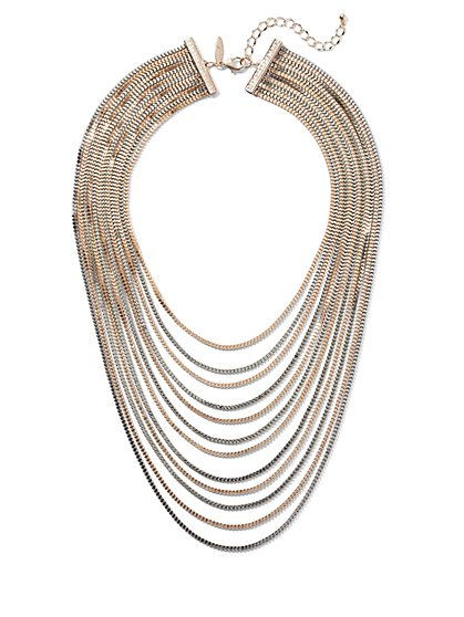 Multi-Row Layered Necklace - New York & Company