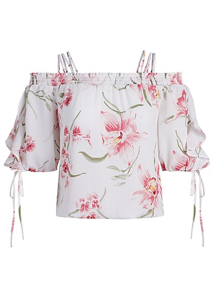 Multi-Strap Blouse - 7th Avenue - New York & Company