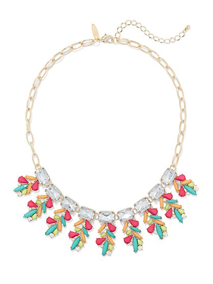 Multicolor Beaded Collar Necklace - New York & Company