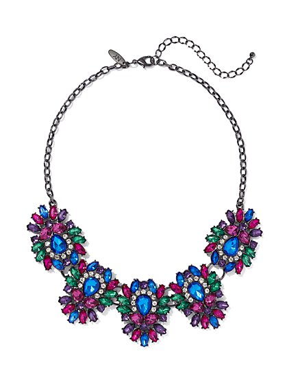 Multicolor Cluster Collar Necklace - New York & Company