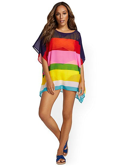 Multicolor Coverup - NY&C Swimwear - New York & Company